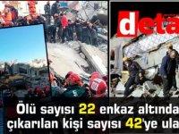 Elazığ Depremi: Ölü sayısı 22 enkaz altından çıkarılan kişi sayısı 42'ye ulaştı