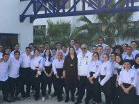 LAÜ Gastronomi Bölümü öğrencileri Kalkanlı Zeytinyağı Fabrikası'nda tadım etkinliği gerçekleştirdi