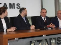 DP Genel Başkanı Ataoğlu ve heyeti KTAMS'ı ziyaret etti