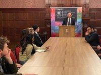 Özersay, Cambrıdge Üniversitesi'nde konferans verdi