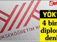 YÖK 4 bin 122 diplomaya denklik verdi