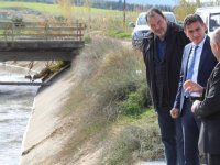 Yeşilyurt'ta derivasyon kanalındaki patlak tamir edildi