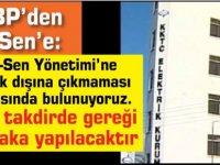 """UBP'den El-Sen'e: ''El-Sen Yönetimi'ne hukuk dışına çıkmaması çağrısında bulunuyoruz. Aksi takdirde gereği mutlaka yapılacaktır."""""""
