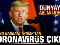 Trump'tan son dakika koronavirüs açıklaması! Dünyaya aşı müjdesi