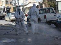 Lefkoşa'da gün boyu dezenfekte devam ediyor
