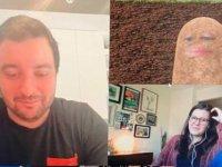 Koronavirüs: ABD'de video konferans uygulamasının filtresini kapatamayan patron, toplantıya patates olarak katıldı