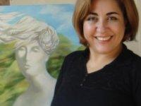 Kıbrıs Modern Sanat Müzesi için sanatçı Rana Amrahova, Kovid 19'u tuvale yansıttı
