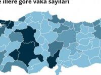 Türkiye'de illere göre vaka sayıları nasıl dağılıyor ?