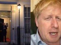 Boris Johnson ilk defa kamera önünde: Sağlıkçıları alkışladı