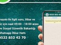 Alo 102 İhbar Hattı İle Çalışma Ve Sosyal Güvenlik Bakanlığı Whatsapp Hizmet Hattı Devrede