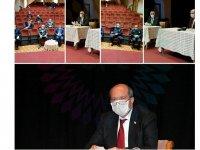 Tatar İskele bölge belediye başkanlarıyla bir araya geldi