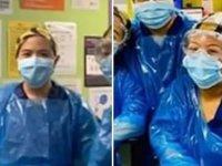 İngiltere'de koruyucu ekipman eksikliği nedeniyle çöp torbalarıyla çalışan hemşireler koronavirüse yakalandı