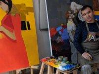 Kıbrıs Modern Sanat Müzesi için sanatçı Almaz Sharshekeev, Kovid 19 ile mücadeleye destek için tuvale resmetti