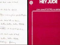 Beatles'ın Hey Jude şarkısının el yazısı sözleri 910 bin dolara satıldı