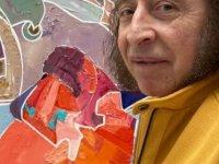 Sanatçı Abdukodir Rakhimov, Kovid 19'a karşı mücadeleyi  Kıbrıs Modern Sanat Müzesi için tuvale resmetti