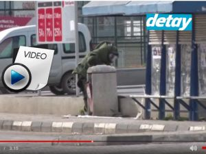 Mağusa'da bomba imha uzmanlarının patlatma anı videosu