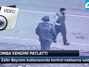 Polisin yanına geldi pimi çekti!