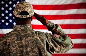 Soldier Saluting Flag (Army)
