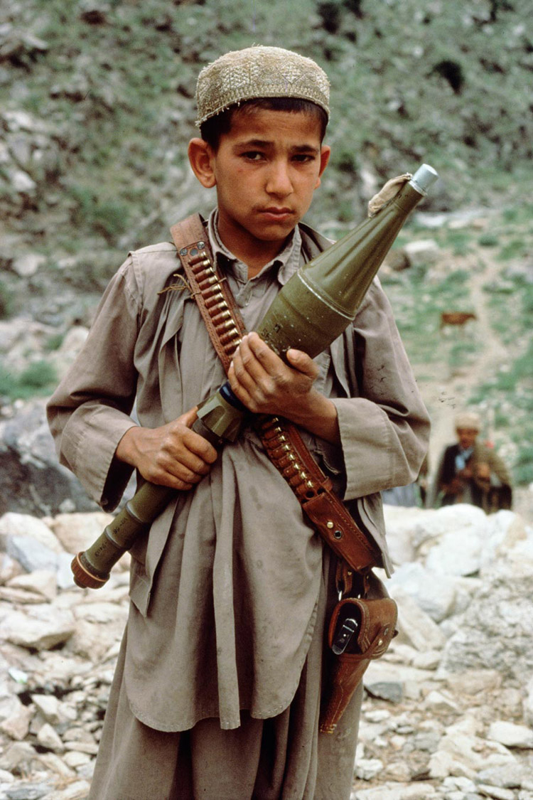 Mujahidin on the Afghan border, Afghanistan, 1984